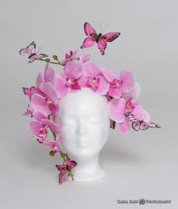Orchideen - Traum Headdress Fotoshooting Portraitfotografie Vogelsberg