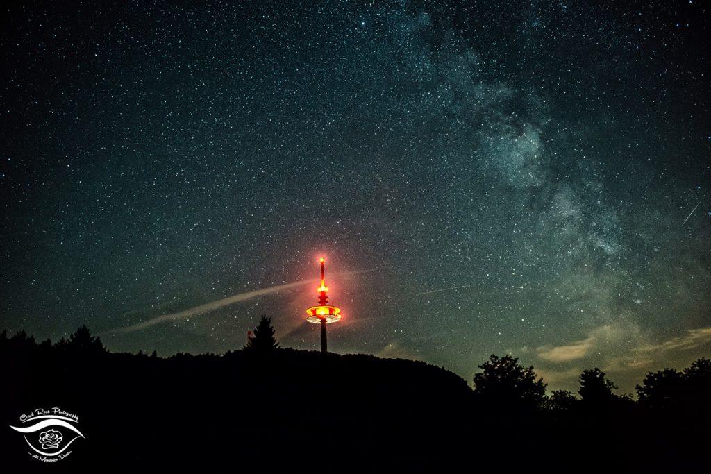 Vogelsbergfotos Hoherodskopf Nachthimmel