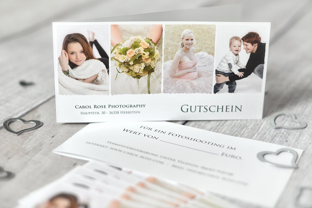 Gutschein Fotoshooting Vogelsberg Geschenk