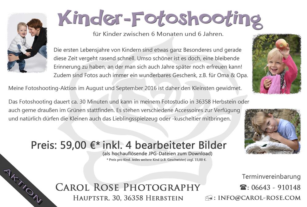 Vogelsberg Kinder Fotoshooting Angebot