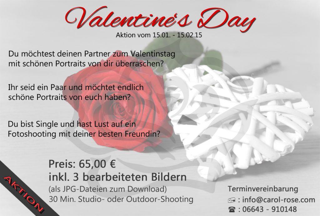 Fotoshooting Geschenk Valentinstag